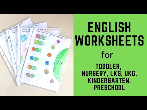 Daily Practice English Worksheets for Toddler, Nursery, LKG, UKG, Kindergarten, Preschool