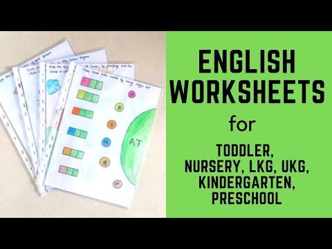 Daily Practice English Worksheets for Toddler, Nursery, LKG, UKG, Kindergarten, Preschool