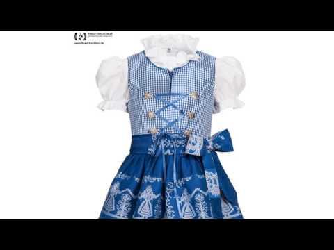 Finest-Trachten.de: Kinderdirndl Vronerl in Blau von Berwin und Wolff