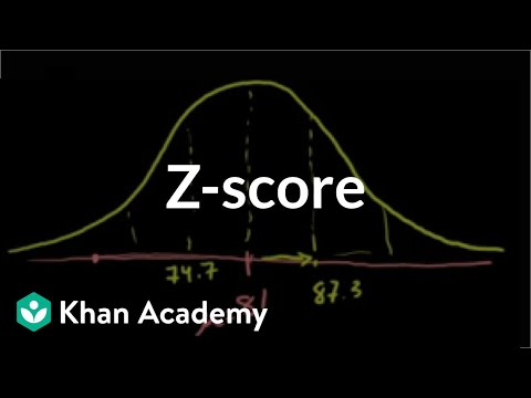 Normal distribution problem: z-scores (from ck12 org) (video