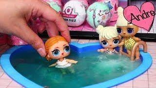 Abrimos sorpresas en la piscina de LOL Surprise | Muñecas y juguetes con Andre para niñas y niños