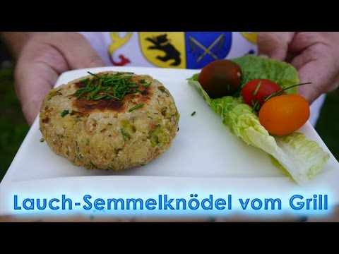 #168: Lauch-Semmelknödel vom Gasgrill (Broil King Regal 490)