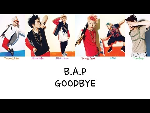 B.A.P - Goodbye (Color coded lyrics Han|Rom|Eng)