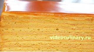 """Смотреть онлайн Торт """"Карамелька"""", пошаговый рецепт приготовления"""
