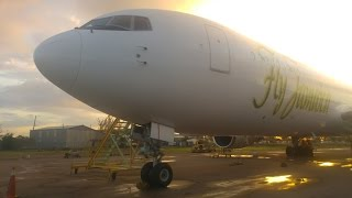 Fly Jamaica Airways 767 walk around at Norman Manley International
