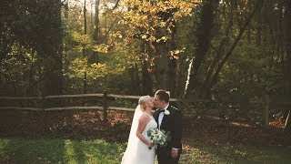 Wedding Video highlight shot in the autumnal Surrey Hills