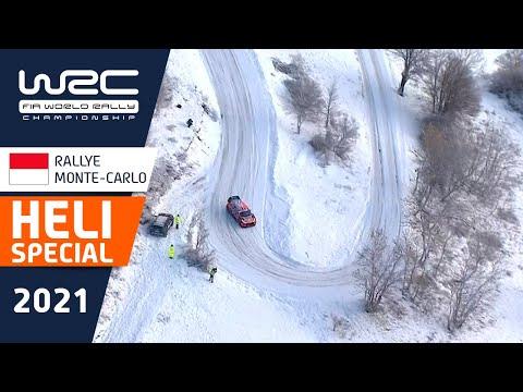 WRC 2021 開幕戦のラリーモンテカルロ ヘリコプターが捉えたベストアクションのみをまとめたハイライト映像