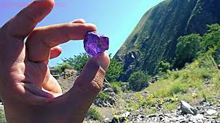 Аметист нашел в горах фиолетового цвета