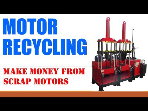 Download Electric Motor Recycling wrecker MW 808II copper