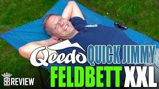 Qeedo Quick Jimmy XXL Feldbett gross & bequem Camping Zelten Gästebett