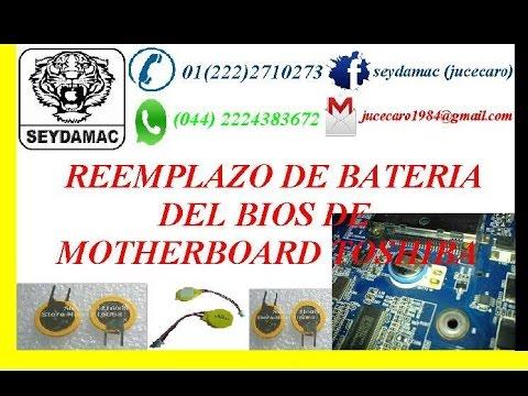 *REEMPLAZO DE BATERIA DEL BIOS *BATTERY REPLACEMENT BIOS