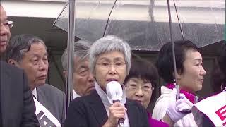 新社会党中央本部委員長岡崎ひろみ応援演説
