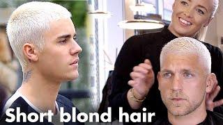 Justin Bieber Short Blond Hair - Platinum Skinfade Hairstyle For Men