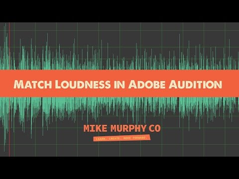 Broadcast loudness standards Adobe Audition CC tutorials
