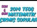 2014 TEOG 1 MATEMATİK ÇIKMIŞ SORULAR