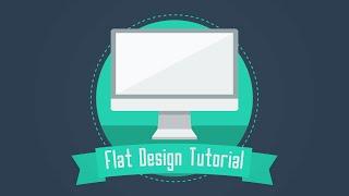 39. Adobe Illustrator Básico: Monitor Flat Design (para Iniciantes)