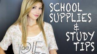 School Supplies + Study Tips