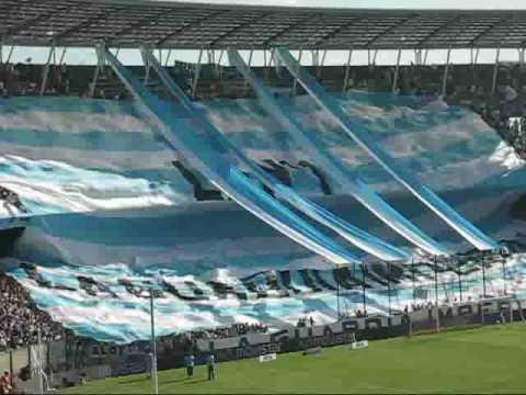 """""""TELON LA GUARDIA IMPERIAL"""" Barra: La Guardia Imperial • Club: Racing Club • País: Argentina"""