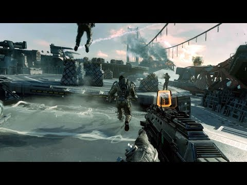 Dynamic Assault of Aircraft Carrier in Cool FPS Game Call of Duty Advanced Warfare
