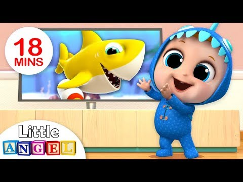 Download Baby Shark Dance | Baby Shark Song | Nursery Rhymes & Kids Songs By Little Angel HD Mp4 3GP Video and MP3