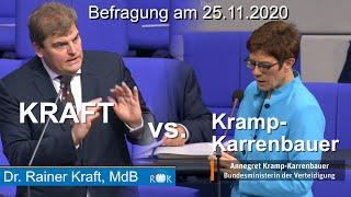 Fragen an die Bundesregierung: Kramp-Karrenbauer bleibt Antwort schuldig.