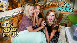SURVIVING FOR 24 HOURS IN OUR ATTIC!! OVER NIGHT!
