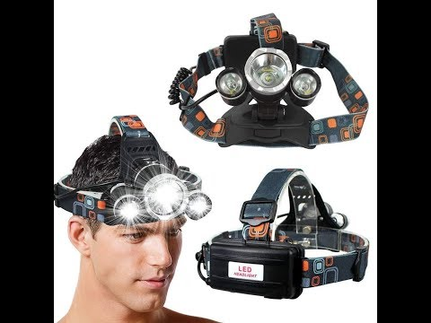 How To Use M2 Tec Professional LED Cree headlamp Unboxing 2019,Profi LED Cree Stirnlampe Kopflampe