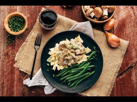 Beef Stroganoff Recipe with Yogurt Sauce