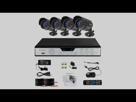 Zmodo PKD DK4216 500GB H 264 Internet & 3G Phone Accessible 4 Channel DVR with 4 Night Vision Camera