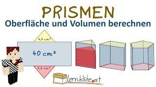 Körper, Prisma, Volumen, Oberfläche, Netz, Hilfe in Mathe | Mathe by ...