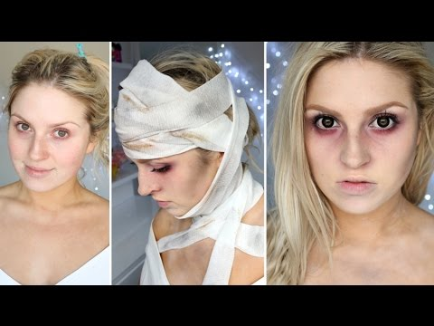 Easy Halloween Makeup ♡ Haunted Asylum Patient, Dead Person, Ancient Mummy
