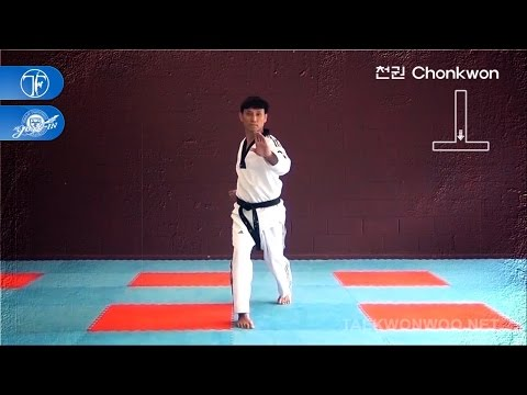 WT Taekwondo Black Belt Poomsae Chonkwon | 품새 천권 | TaekwonWoo