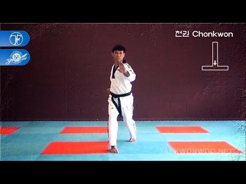 WTF Taekwondo poomsae Chonkwon 품새 천권 (taekwonwoo)