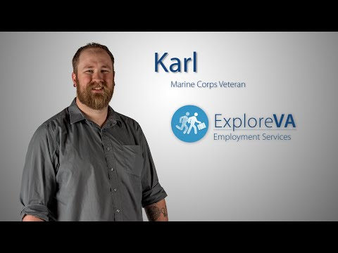 VA helped Karl find the career of his dreams.