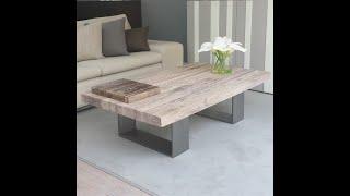 American Coffee Table Wood Tea Table Retro Square Sofa Coffee Table Living Room Table