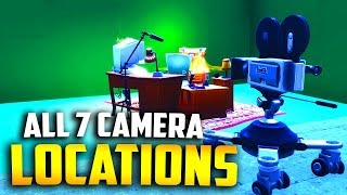 "ALL 7 FILM CAMERA LOCATIONS ""Dance in front of SEVEN different film cameras"" Fortnite Camera Spots"