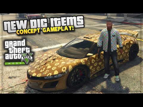 GTA 5 Ill Gotten Gains DLC Gameplay Concept MOD! (GTA 5 DLC Car & Clothes)