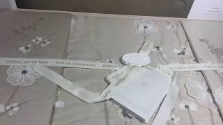 Сатиновое постельное белье с вышивкой. Евро размер. Турция. от компании Euro texti VIP - видео