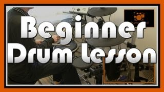 ★ How To Play Drums (8) ★ Beginner Drum Lesson | Free Video Drum Lesson