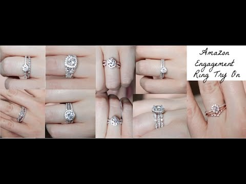 Trying on Affordable Amazon Engagement Rings + Review