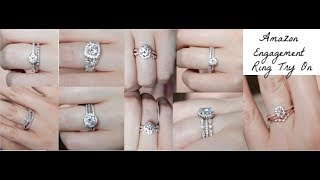 Trying On Affordable Amazon Womens Engagement Rings + Review