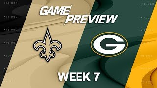 New Orleans Saints vs. Green Bay Packers | Week 7 Game Preview | NFL Playbook
