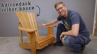 Adirondack Gartenstuhl selbst gebaut // Super gemütlich!