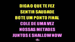 JUNTOS (E SHALLOW NOW) (Karaoke Instrumental Version)   Paula Fernandes & Luan Santana