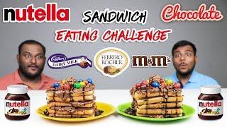 NUTELLA CHOCOLATE SANDWICH EATING CHALLENGE   Chocolate Sandwich Eating Competition   Food Challenge