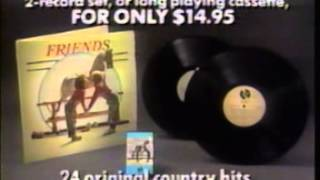 "1988 ""Friends"" country music compilation album commercial"