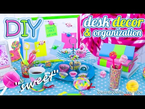 DIY Desk Decor And Organization Ideas In Candy Style – How To Make Your Desk Looks Sweet
