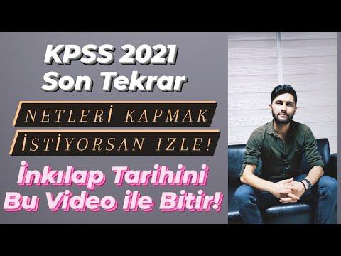 İnkılap Tarihi Son Tekrar - KPSS 2021 - KPSS Son Tüyolar - KPSS Son Tekrar