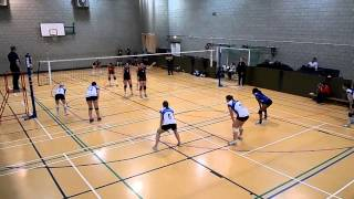 preview picture of video 'London Volleyball Women's Premier League Match: Lionhearts East vs Swiss Cottage. Set 1'