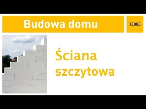 Jak wykonać ścianę szczytową? Instrukcja budowania domu z bloczków Ytong. - zdjęcie